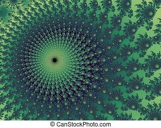 Dark - green fractal background