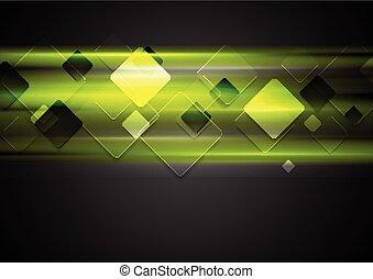 Dark green glowing tech background