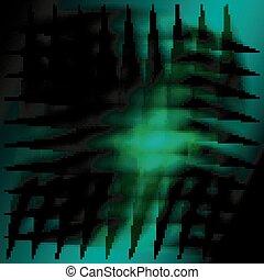 Dark green grid background design