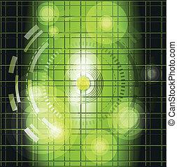 Dark green grid background vector