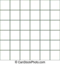 Dark Green Grid White Background