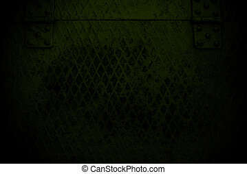 dark green grunge Steel mesh screen background and texture