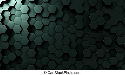 Dark green hexagonal background