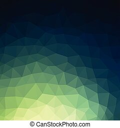 Dark green low poly style vector background illustrator