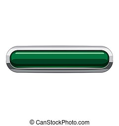 Dark green rectangular button icon, cartoon style