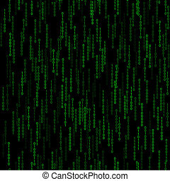 dark green seamless pattern with binary code. Vector...