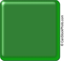 Dark Green Square Button