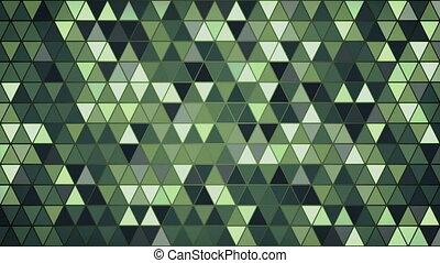 dark green triangles pattern seamless loop background