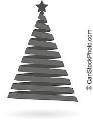 Dark grey icon for Christmas tree m