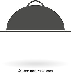 Dark grey icon for Food Serving Tra