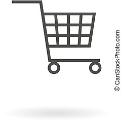 Dark grey icon for shopping cart on