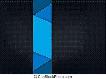 Dark Grid Background with Blue Graphic Segments