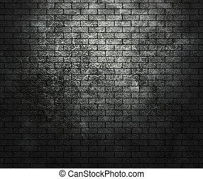 Dark Grunge Brick Wall