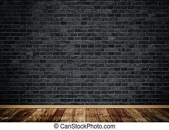 Dark grunge bricks wall.