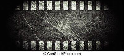 Dark grunge filmstrip abstract background. Vector design
