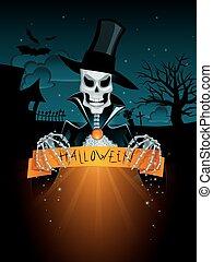 Dark halloween background