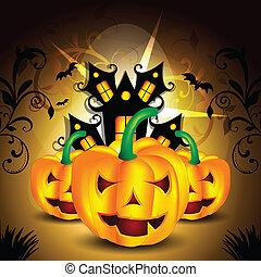 Dark Halloween Background vector