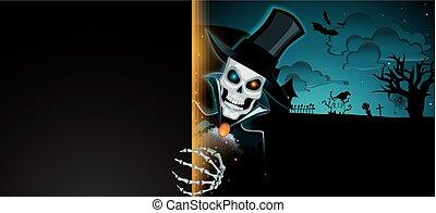 Dark halloween banner