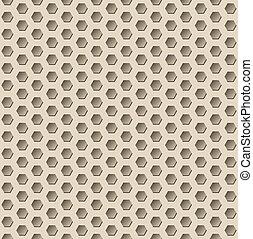 Dark hexagon seamless pattern with 3d effect