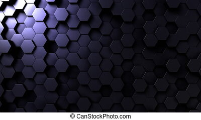 Dark hexagonal shapes - Abstract dark hexagonal motion...