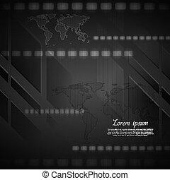 Dark hi-tech vector background