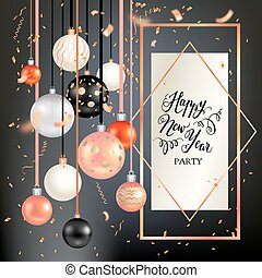 Dark holiday template-01 - Black winter decoration with...