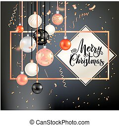 Dark holiday template-11 - Black winter decoration with...