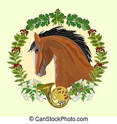 Dark Horse hunting theme vector
