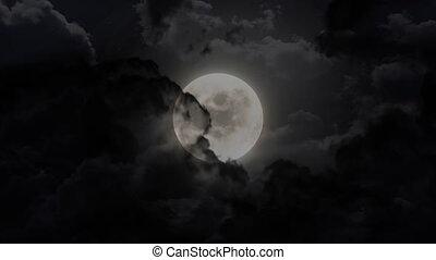 dark large moon - dark moon animation