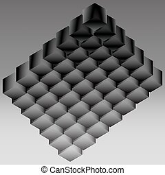 Dark logo from the cubic structure