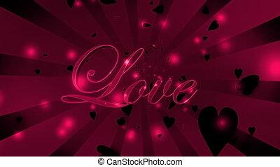 Dark Love and Hearts Loop