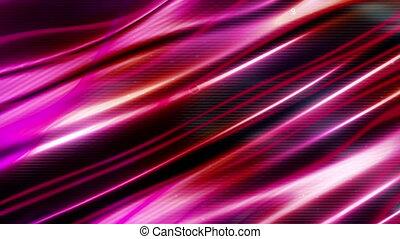 Dark magenta flowing abstraction loop animated CG background...