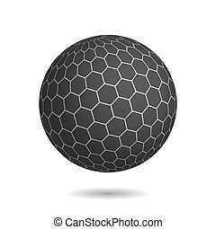 Dark magic sphere with surface of hexagons. Looks like...