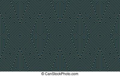 Dark maze seamless background pattern. EPS 8 Vector.