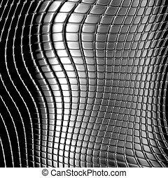Dark metal checked pattern background