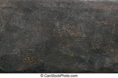 dark metal background texture of hammered iron