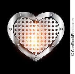 dark metal heart