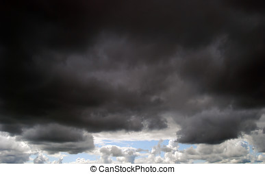 Dark moody clouds