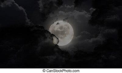 dark moon eclipse - moon animation