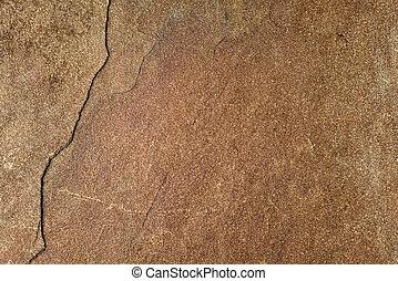 dark natural brown sand stone texture with crack, decorative background