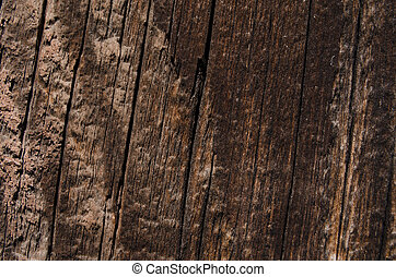 Dark natural color of a wooden texture