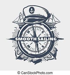 Dark Nautical Print