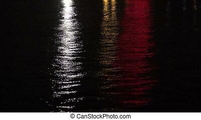 dark  night asia river background