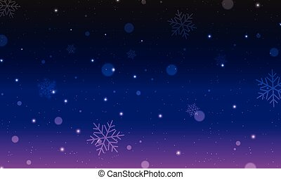 Dark night illustration with Christmas symbols and signs in carnival style.