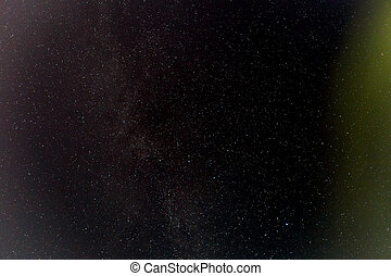 Dark night sky with stars.
