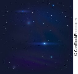 Dark night starry sky background