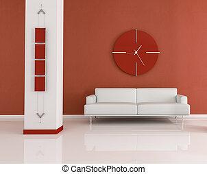 dark orange living room