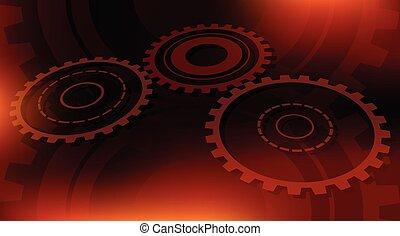 dark orange technical background