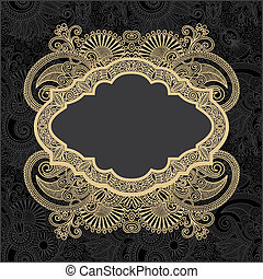 dark ornate floral background with template for your text