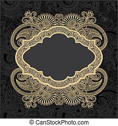 dark ornate floral background